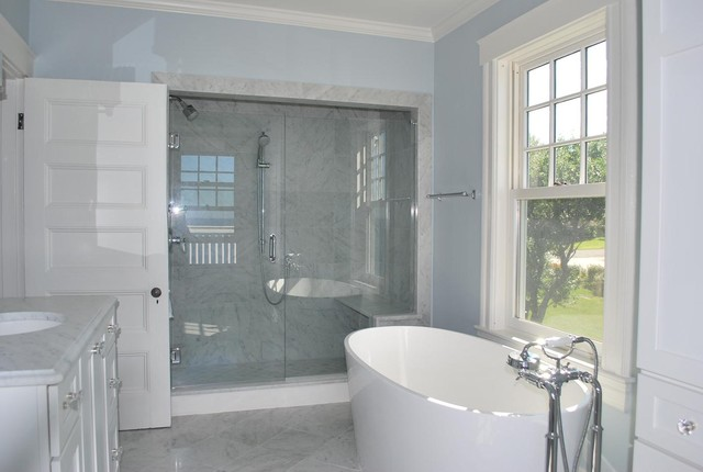 Rockport House Powder Rooms traditional bathroom