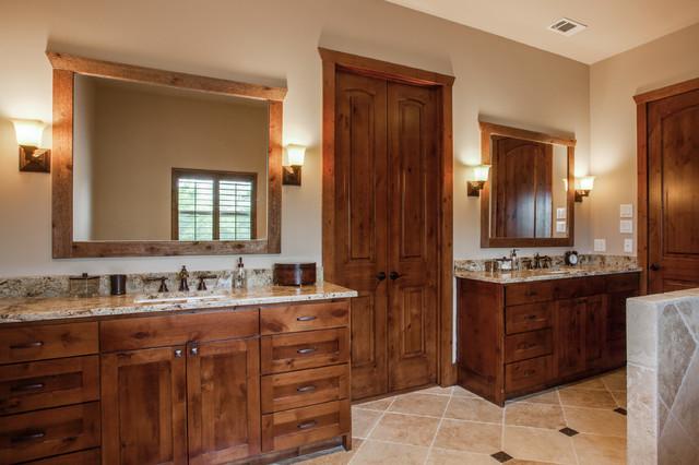 Rockwall Home Rustic Bathroom Dallas By Gardner Custom Homes