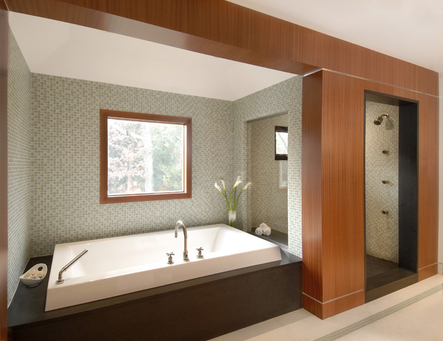 contemporary bathroom by Oak Hill Architects