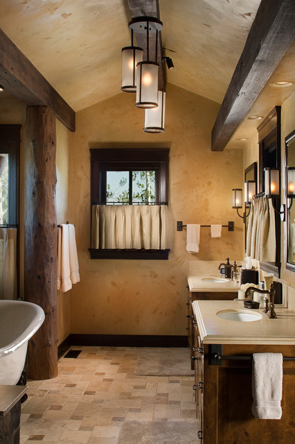 Rocky Mountain Log Homes Timber Frames Rustic Bathroom Other Metro By Rocky Mountain