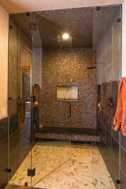 Rocky Mountains Home Spa Rustic Bathroom Denver By