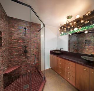 Badezimmer mit roten Fliesen Ideen, Design & Bilder   Houzz
