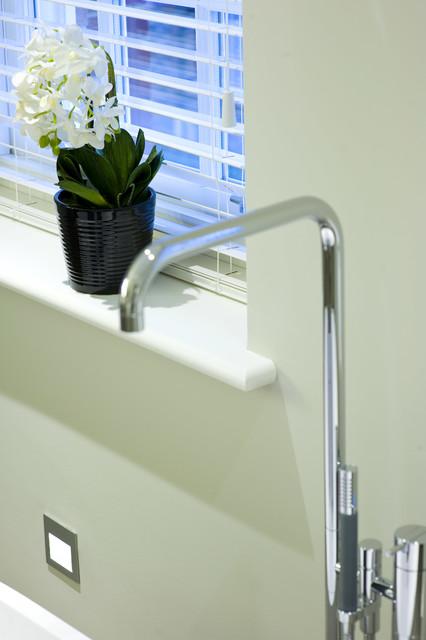Roehampton development transitional bathroom london for Home automation shower