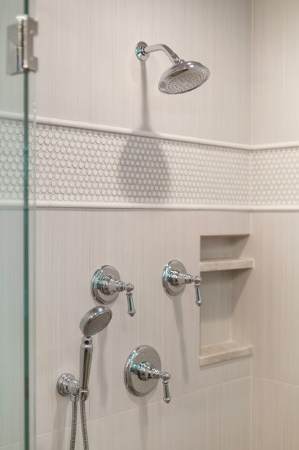 Rogero master bath remodel classique chic salle de - Salle de bain classique chic ...