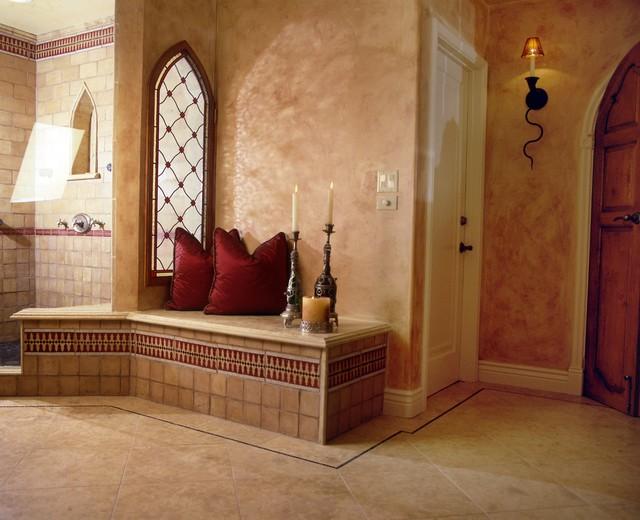 Roman master bath mediterranean bathroom los angeles for Mediterranean master bathroom ideas