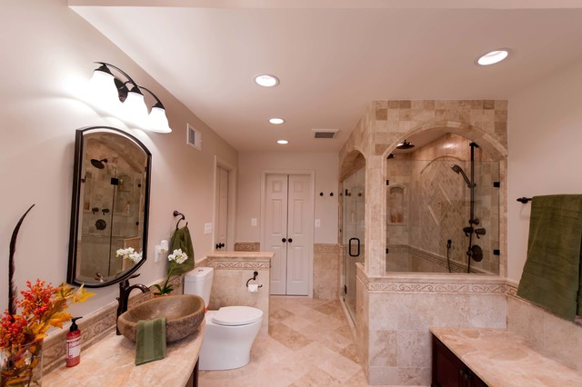 Charming Roman Style Bath Adds Splendor To Reston Townhome Traditional Bathroom Part 10