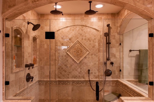 Roman style bath adds splendor to reston townhome Roman style bathroom designs