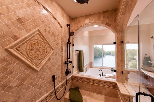 Superieur Roman Style Bath Adds Splendor To Reston Townhome Traditional Bathroom