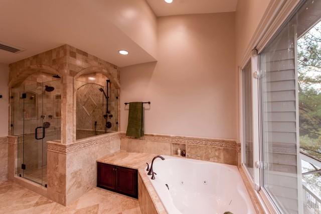 Roman Style Bath Adds Splendor To Reston Townhome Traditional Bathroom Dc Metro By