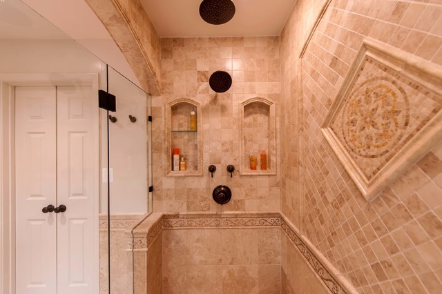 Roman-style Bath Adds Splendor to Reston Townhome traditional-bathroom