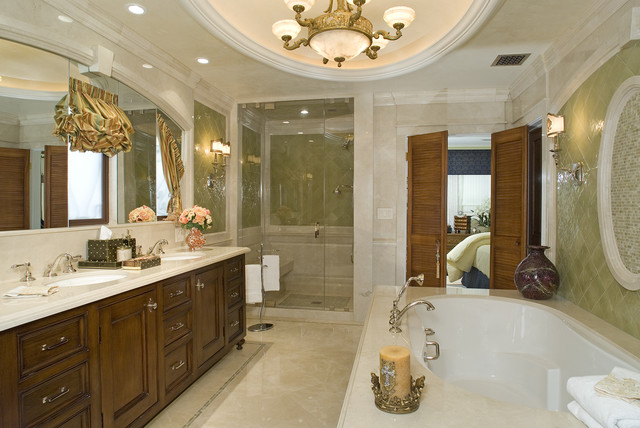 Romantic Bath mediterranean bathroom
