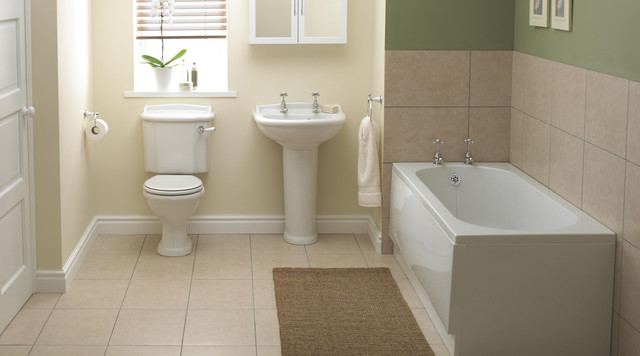 Romsey bathroom set contemporary bathroom other for B q bathroom accessories