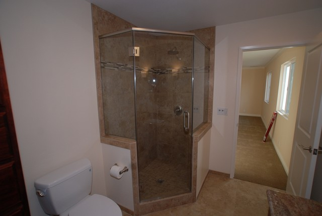 Room addition master suite walk in shower closet for Closet bathroom suites