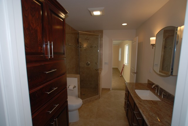 Room Addition Master Suite Walk In Shower Closet Traditional Bathroom