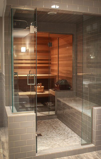 Baños Estilo Asiatico:Room of the Day: A Tale of Two Seattle Saunas – Asiático – Cuarto de