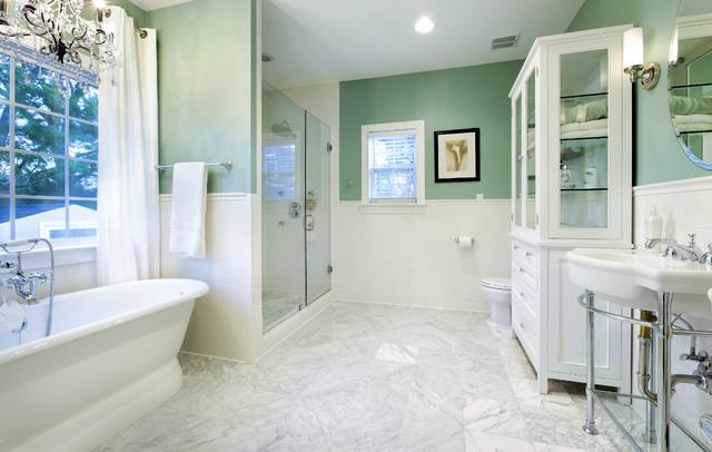 Rosedale Spa Like Master Bathroom Traditional