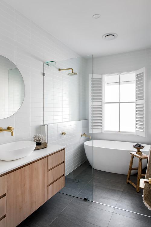 freestanding bath wet room bathroom