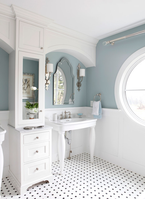 Rossi House, Lauri Rossi Interiors - Traditional - Bathroom - New York - by Tom Grimes Photography