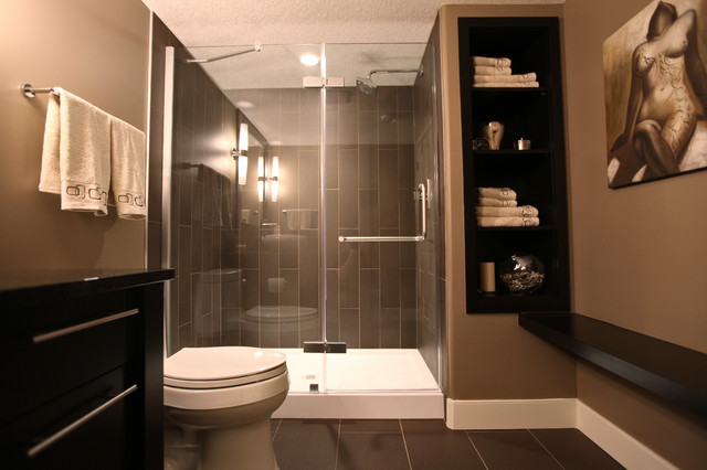 Rothenberg basement development modern bathroom Basement bathroom ideas