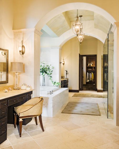 Rough Hollow Master Bath mediterranean bathroom