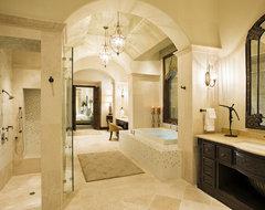 Rough Hollow Master Bath mediterranean-bathroom