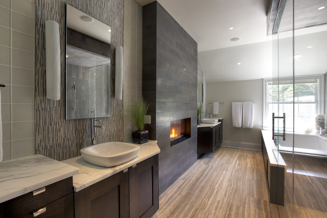Rough Luxe Farmhouse Contemporary Bathroom New York By At
