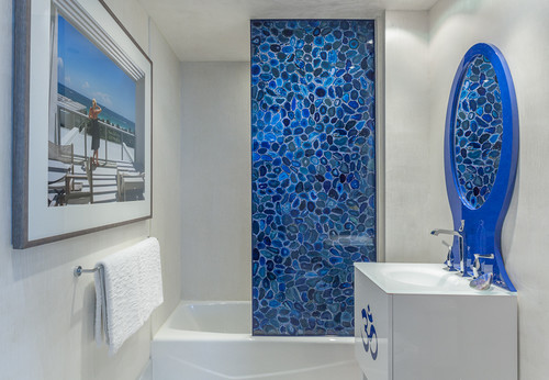 contemporary bathroom Natural Works of Art: Agate in the Home