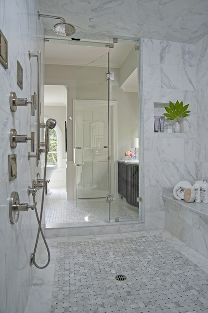 Royal Stone & Tile Carrara Marble Bathroom - Contemporary - Bathroom ...