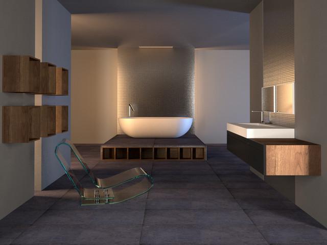 Royal Stone Tile Ultra Modern Bathroom