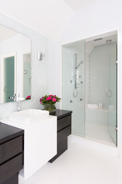 Rumsey Residence - Contemporary - Bathroom - Toronto - by Jo ... on den designs, court yard designs, shower room designs, livingroom designs, hallway designs, construction designs, bath room designs, ensuite designs, hall designs, powder room designs, laundry room designs, utility room designs, washroom designs, bathtub designs, toilet designs, terrace designs, electrical designs, great room designs, windows designs, lounge designs,
