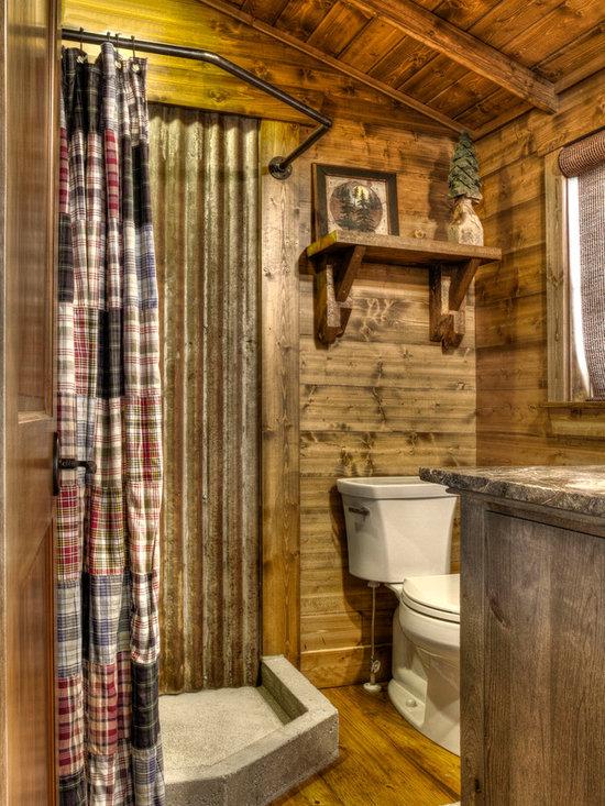 Rustic corrugated metal roof bathroom design ideas for Corrugated iron bathroom ideas