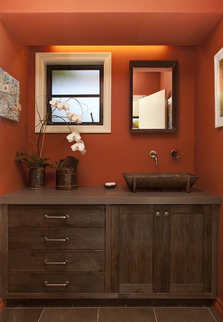 Portola Valley residence rustic-bathroom