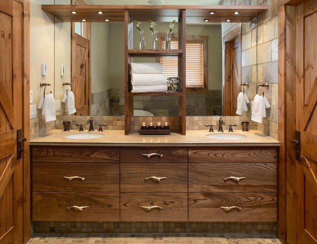 Rustic Master Bath Craftsman Bathroom Toronto By