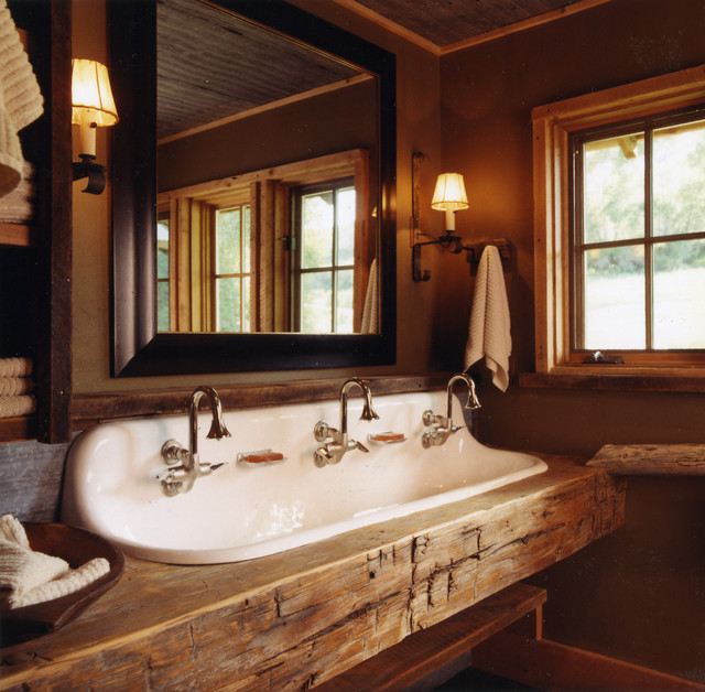Rustic bathroom for Bathroom designs rustic