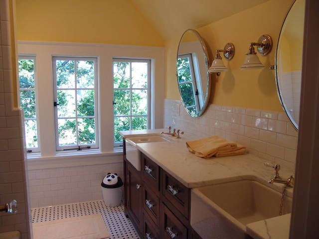 Druid Hills Renovation New Children's Bathroom in Attic rustic-bathroom
