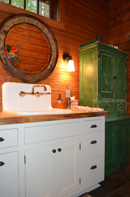 Rustic cabin bathroom rustic bathroom portland by julia