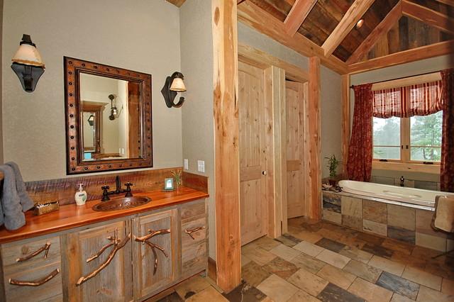 Shipman Residence rustic-bathroom