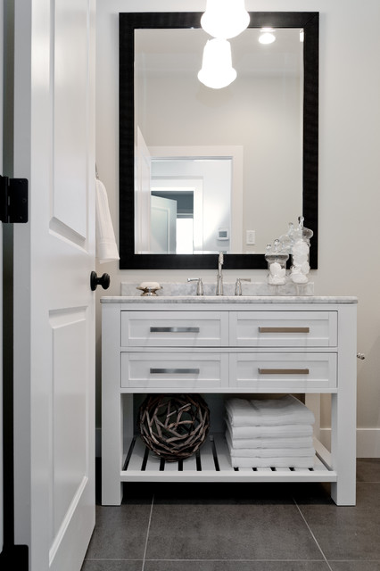 Rustic chic bungalow contemporary bathroom other metro by maison fine homes interior - Rustic chic bathroom ...