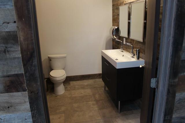 Rustic Commercial Restroom Mediterranean Bathroom