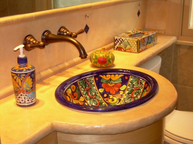 Delicieux Rustic Composite Countertop In Mexican Style BathEclectic Bathroom, Atlanta