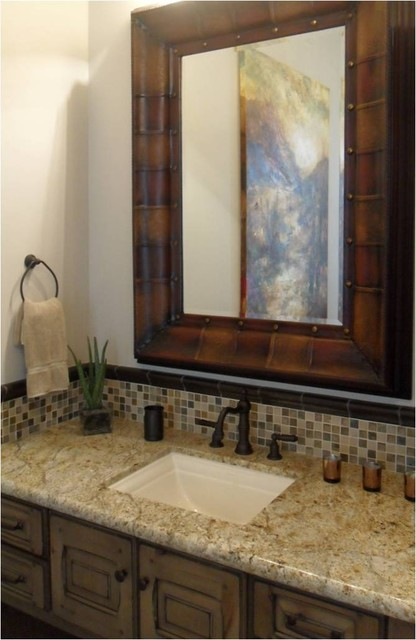 Rustic Contemporary Bathroom Contemporary Bathroom Phoenix By Danielle Jacques Designs Llc