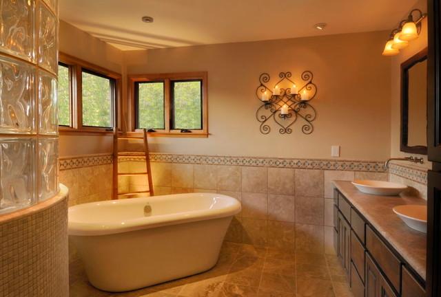 Rustic Contemporary Bathroom Retreat Traditional Bathroom Other