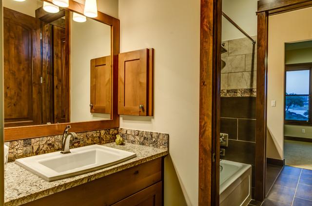 Rustic Contemporary Rustic Bathroom