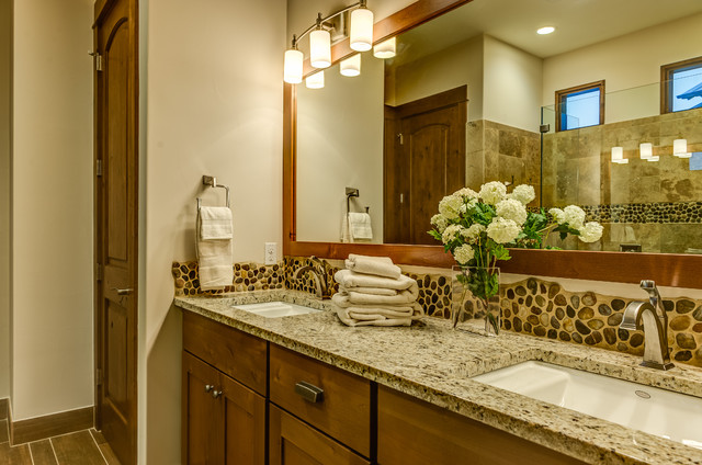 Rustic Contemporary Rustic Bathroom Other By
