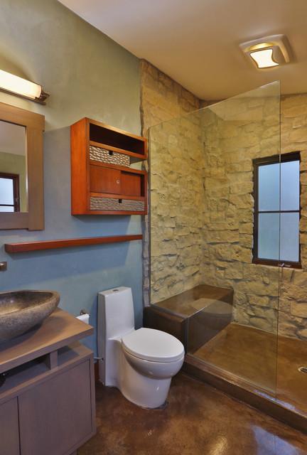 Rustic Contemporary Contemporary Bathroom Los
