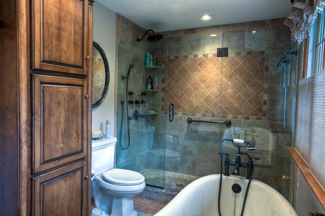 Master Bath:  Rustic Country traditional-bathroom