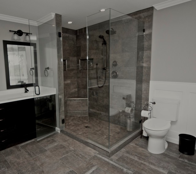 Rustic Custom Ensuite In Surrey Bc Rustic Bathroom Vancouver By Pro Pack Contracting