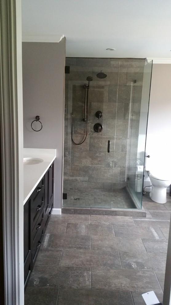 Rustic Custom Ensuite in Surrey, BC - Rustic - Bathroom ...