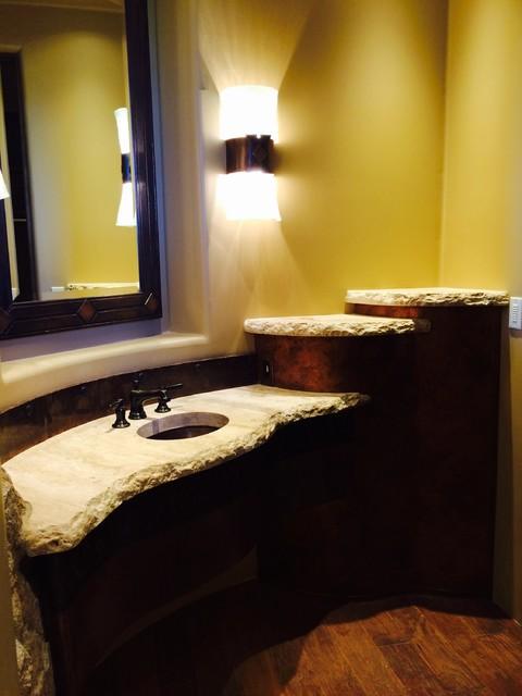 Rustic Custom Slab Vanity Countertop Rustic Bathroom