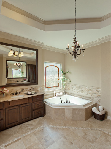 Rustic elegance rustic bathroom houston by by for Designing interiors inc